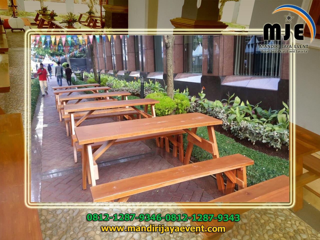 Sewa Meja Kursi Taman Kayu Jakarta