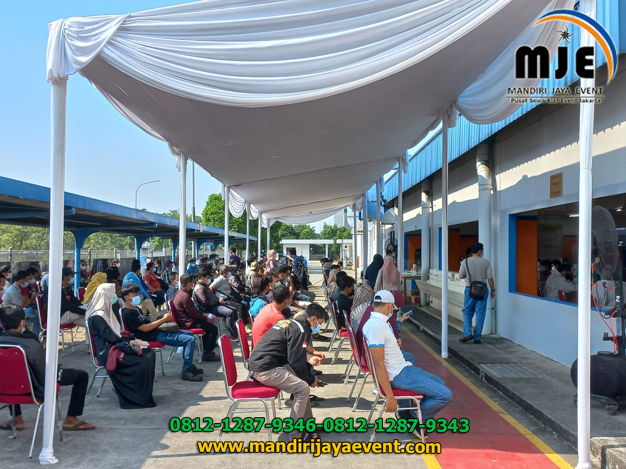 Sewa Tenda Kursi Acara Vaksin Kawasan Industri MM2100 Cibitung
